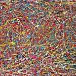 Abstract Jackson Pollock Painting Original Art Titled Move Zeeclark