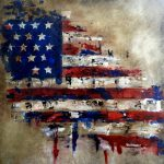 Abstract Modern Pop Huge American Flag Art Patriot Canvas Print Fidostudio