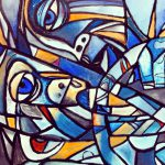 Abstract Painting Cubism Picasso Style