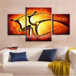 Abstract Passion Dancing Lady Portrait Oil Painting Canvas Artwork Handmade Modern