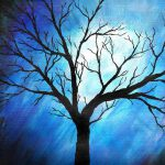 Abstract Tree Blue Painting Sabrina