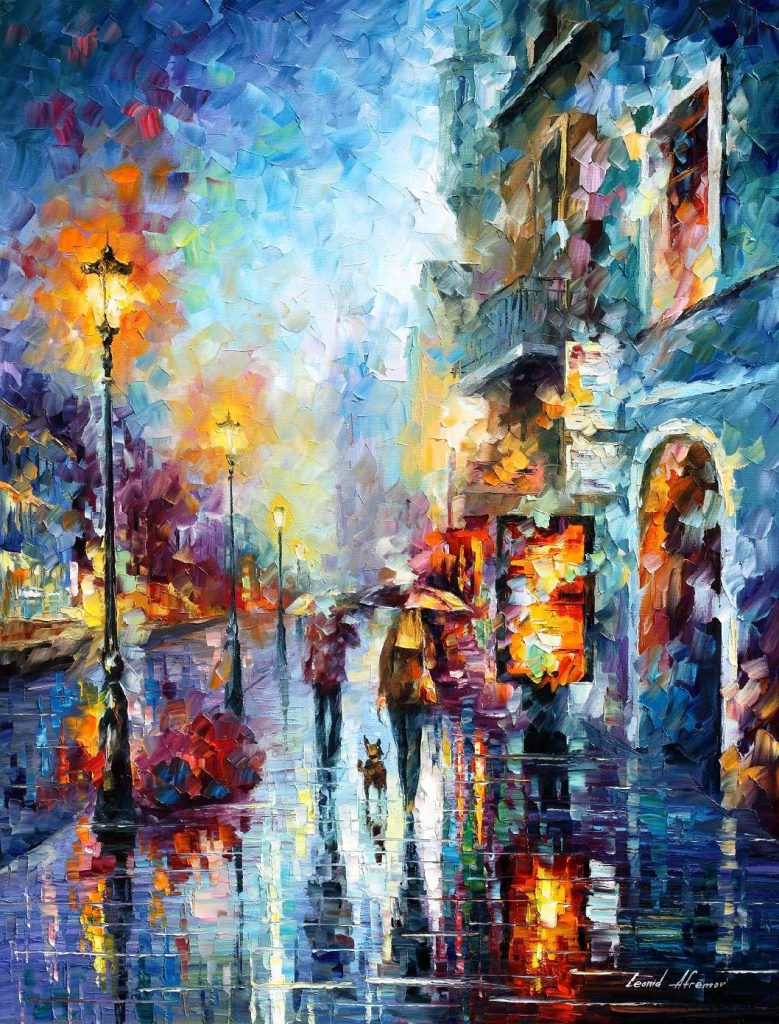Abstract Wall Art Famous Painter Leonid Afremov Your Room Design Hand Painted
