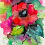 Abstract Watercolor Paintings Flowers Part