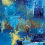 Aceo Blue Day Dream Abstract Collector Card Oil