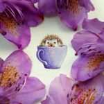 Adorable Miniatures Year Old Watercolor