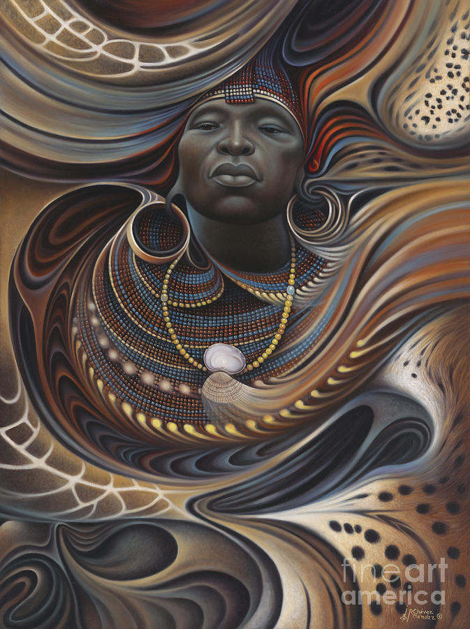 African Spirits Painting Ricardo Chavez