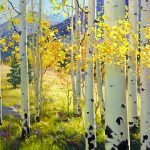 Afternoon Aspen Grove Painting Gary