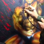 Airbrush Painting Did Kai Greene Song Dirty Diana Michael Jackson