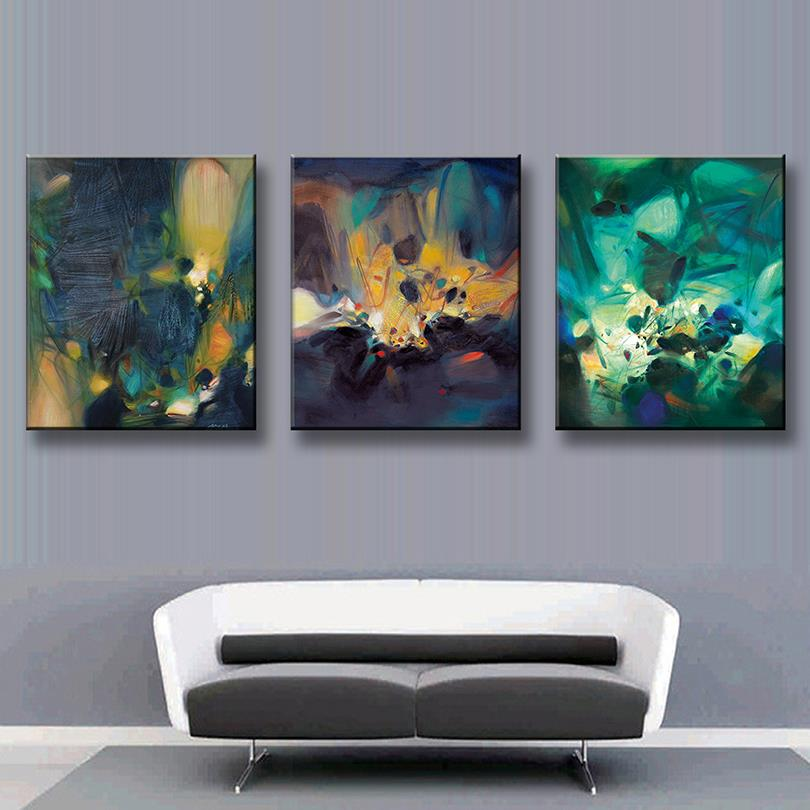 Aliexpress Buy Pcs Set Modern Abstract Oil Painting Office