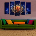 Aliexpress Buy Piece Wall Paintings Home Decorative Modern Abstract Flower