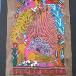 Amate Bark Painting Folk Art Latin Mexican