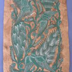 Amate Bark Painting Mexican Folk Art Latin