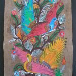 Amate Bark Painting Thomas Ramirez Otomi Folk Art Latin Mexican