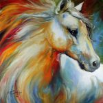 American Art Moves Horse Angel Original Oil Painting Equine Artist Marcia