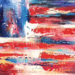 American Flag Abstract Large Original