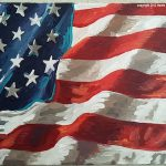 American Flag Painting Daily Series Done