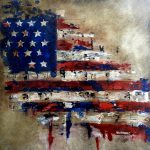 American Flag Painting Tom Fedro