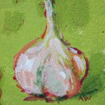 Amy Whitehouse Paintings Garlic Contemporary Still
