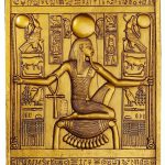 Ancient Egyptian Temple Wall Decor King Tut Sculptural Plaque Traditional