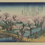 Ando Hiroshige Evening Glow Koganei Bridge Painting