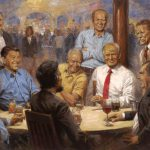 Andy Thomas Republican Presidents Painting Features Trump