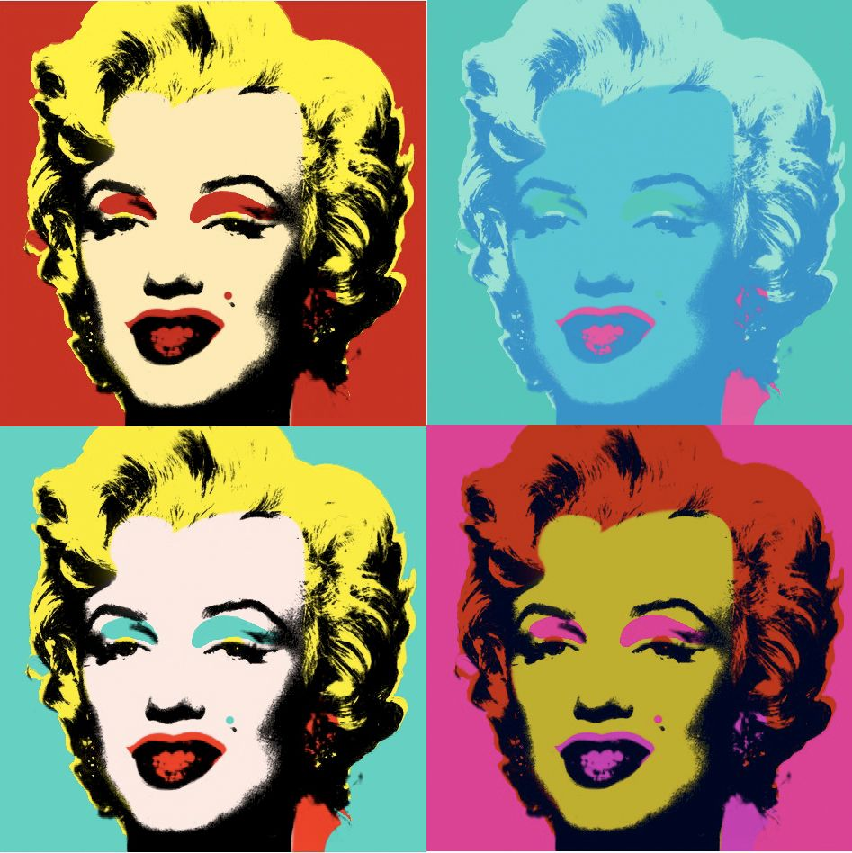 Andy Warhol Most Famous Art Two Paintings Marilyn