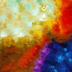 Angels Among Emotive Spiritual Healing Art Painting Sharon