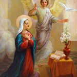 Annunciation Blessed Virgin Mary Painting Svitozar