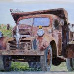 Anthony Butera Old Farm Truck Painting Print
