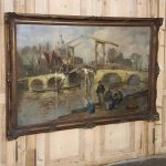 Antique Framed Oil Painting Canvas Martin Van Waning