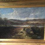 Antique Landscape Oil Painting James Docharty Very Early Original Frame Large
