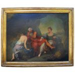 Antique Oil Painting Canvas Gilt Frame Sale