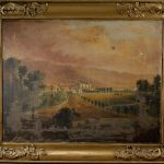 Antique Oil Painting Canvas Large American Plantation Outstanding Quality