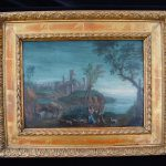 Antique Oil Painting Century Landscape Rare