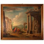 Antique Oil Painting Classical Roman Ruins