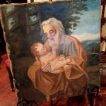 Antique Old Master Oil Painting Joseph Baby Jesus Christian Religious