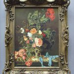 Antique Still Life Flower Oil Painting Artist Scott Presented Very Special
