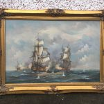 Antiques Atlas Huge Oil Painting Battle