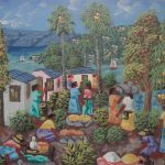 Art Painting Alaby Haitian Genre Signed