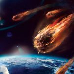 Art Painting Meteor Planet Atmosphere Friction Fire