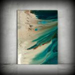 Art Painting Original Acrylic Abstract Coastal