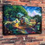 Art Prints Disney Oil Painting Canvas Snow Whites Magical Forest