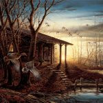 Art Quality Canvas Print Oil Painting Terry Redlin Morning Retreat