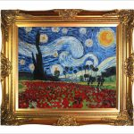 Art Reproduction Oil Painting Van Gogh Paintings Starry Poppies Collage