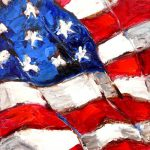 Artful Ideas Feeling Patriotic Flags Painting Tribute