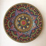 Ist Creates Ceramic Plates Hand Painted Mesmerizing Mandala