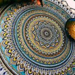 Artist Creates Intricate Mandala Designs Gilded Gold Leaf