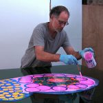 Artist Creates Psychedelic Art Pouring Paint Resin Onto Canvas Bored