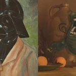 Artist Upcycles Old Thrift Store Paintings Into Nerdy