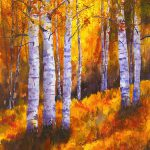 Aspen Trees Painting Barb